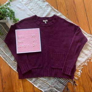 Joie Noam Purple Cashmere Blend Sweater